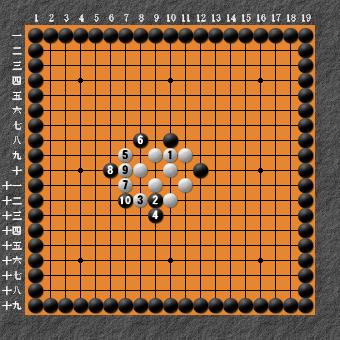 19路詰碁 問題⑥ 失敗図2