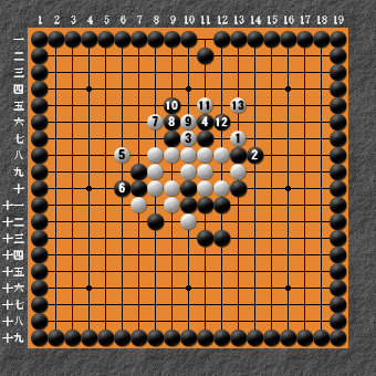19路詰碁 問題③ 難しい 回答2
