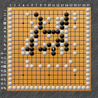 19路詰碁 問題⑨ 囲碁ひも理論の例