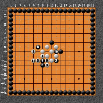 19路詰碁 問題⑥ 正解4