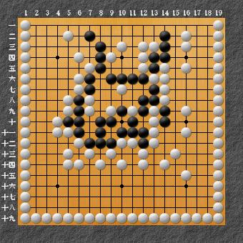 19路詰碁 問題⑨ 囲碁ひも理論の例2
