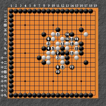 19路詰碁 問題⑧ 回答6