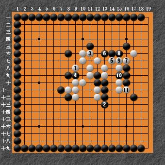 19路詰碁 問題⑧ 回答14