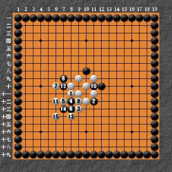 19路詰碁 問題⑥ 正解5