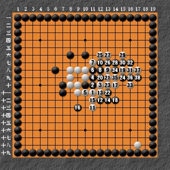 19路詰碁 問題④ 失敗図2