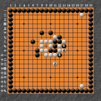 19路詰碁 問題⑤ 押し3