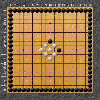 19路詰碁 問題⑥ 白先生き