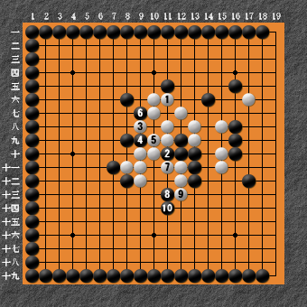 19路詰碁 問題⑧ 回答3
