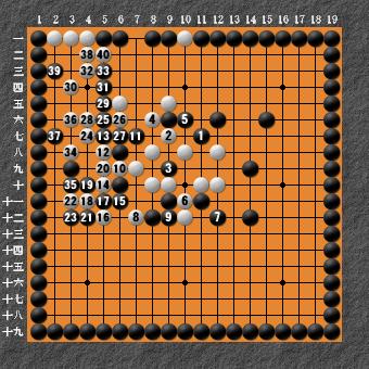 19路詰碁 問題⑦ 失敗図6
