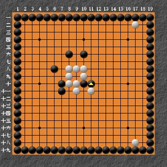 19路詰碁 問題⑤ 白先白シノギ
