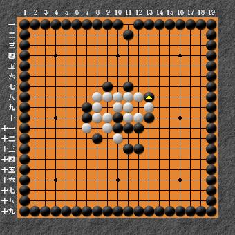 19路詰碁 問題③ 難しい 回答1