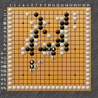 19路詰碁 問題⑨ 本来の問題2