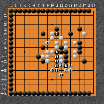 19路詰碁 問題⑧ 回答11