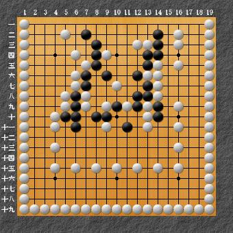 19路詰碁 問題⑨ 白次の一手は?