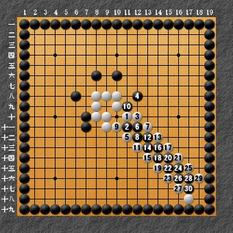19路詰碁 問題④ 回答4