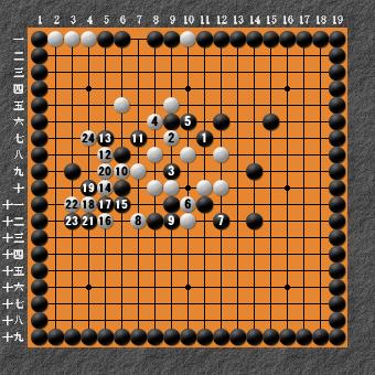 19路詰碁 問題⑦ 失敗図4