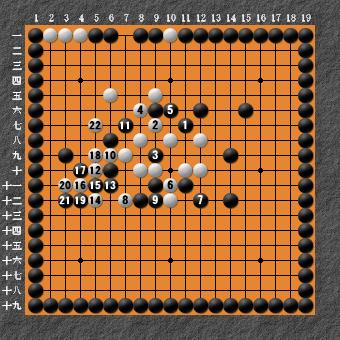 19路詰碁 問題⑦ 失敗図2