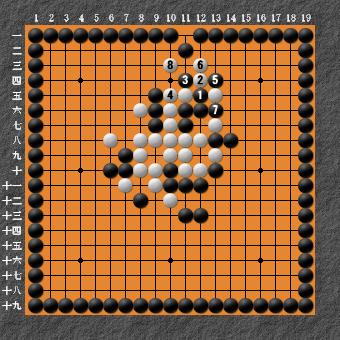 19路詰碁 問題③ 難しい 回答3