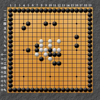 19路詰碁 問題③ 簡単