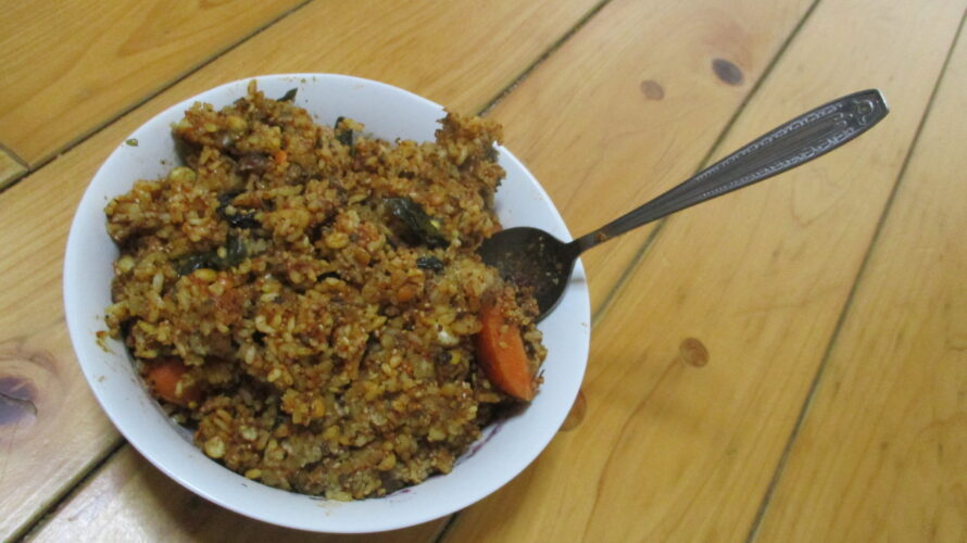 完全穀食カレー丼の作り方アイキャッチ