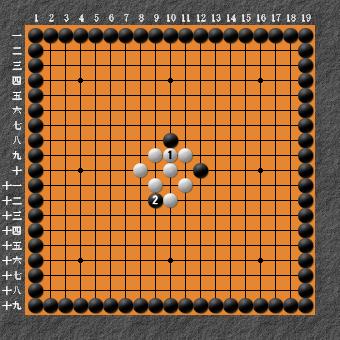 19路詰碁 問題⑥ 失敗図1