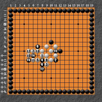 19路詰碁 問題⑥ 正解6