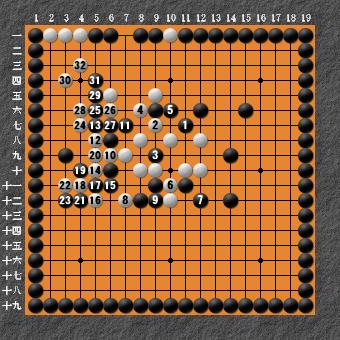 19路詰碁 問題⑦ 失敗図5