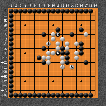 19路詰碁 問題⑧ 回答9