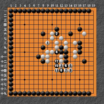 19路詰碁 問題⑧ 回答10