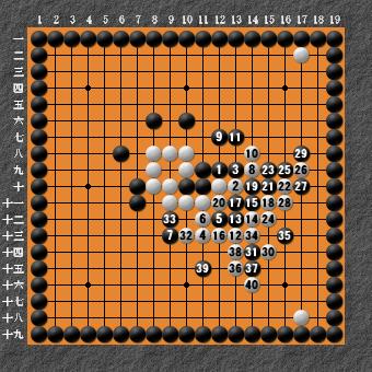 19路詰碁 問題⑤ 曲がり3