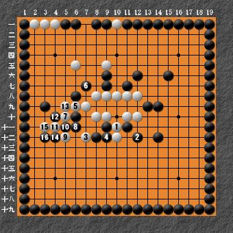 19路詰碁 問題⑦ 回答6