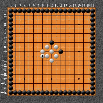19路詰碁 問題⑥ 正解1