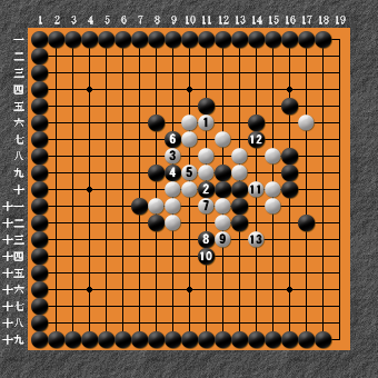 19路詰碁 問題⑧ 回答4