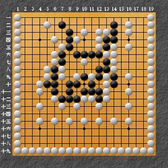19路詰碁 問題⑨ 囲碁ひも理論の例3