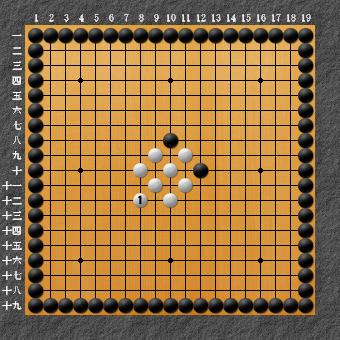 19路詰碁 問題⑥ 回答1