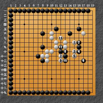 19路詰碁 問題⑧ 手順