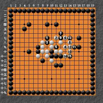19路詰碁 問題③ 回答3 簡単