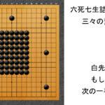 闇試合でAIを粉砕!テレパシーが教える六死七生詰碁2|三々の変化形