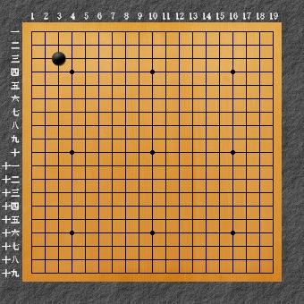 囲碁ひも理論2 左上三々