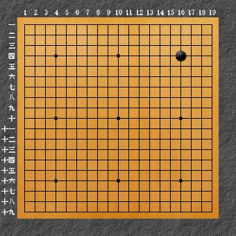 囲碁ひも理論2 右上星