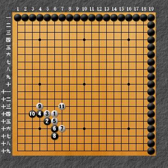 囲碁ひも理論 変化図2-1